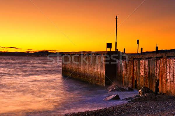 Morza wygaśnięcia niebo piękna dramatyczny kolor Zdjęcia stock © 3523studio