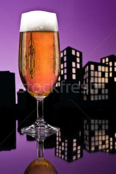 Metropolis lager beer Stock photo © 3523studio
