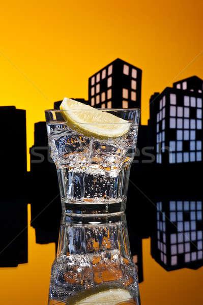 Metropolis cocktail partij restaurant bar Stockfoto © 3523studio