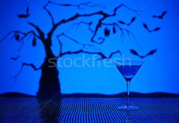Kobalt Martini halloween mutlu bar mavi Stok fotoğraf © 3523studio