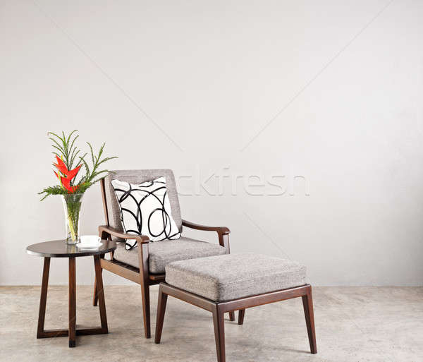 Grey upholstered chair  Stock photo © 3523studio