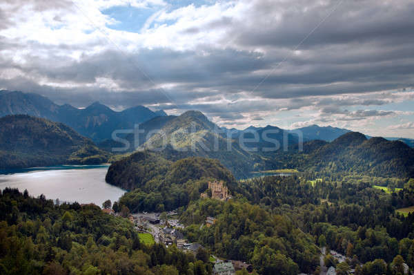 Castle Hohenschwangau with alps in the background Stock photo © 3523studio