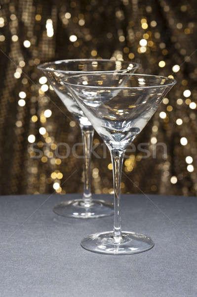 Martini gafas brillo fiesta resumen vidrio Foto stock © 3523studio