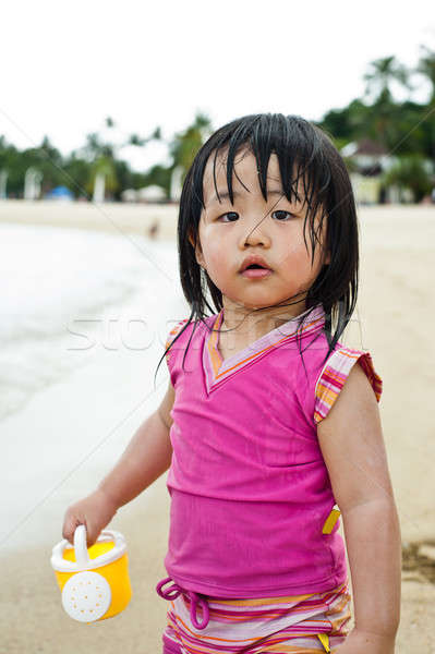 Toddler at the beach Stock photo © 3523studio