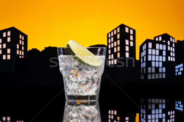 Metropolis Gin Tonic cocktail Stock photo © 3523studio