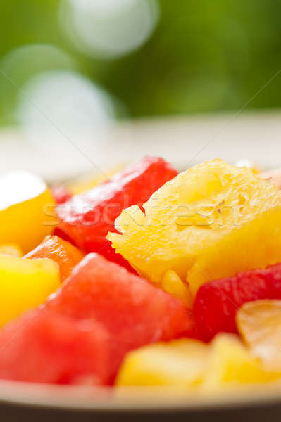 One bowl of Mixed tropical fruit salad Stock photo © 3523studio
