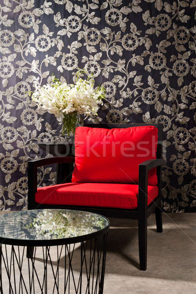 Black red Chair  Stock photo © 3523studio