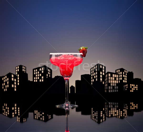 Metropolis strawberry Margarita cocktail Stock photo © 3523studio