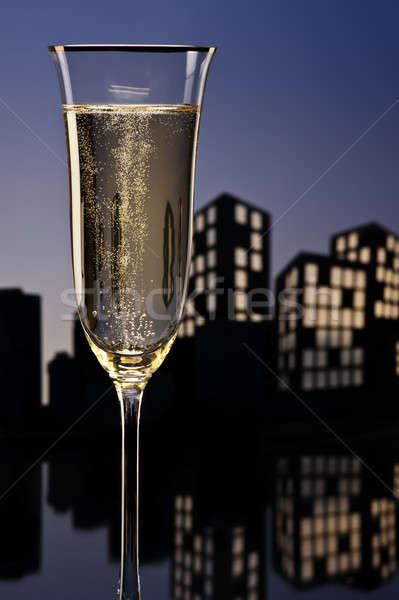 метрополия шампанского коктейль свет ресторан Сток-фото © 3523studio