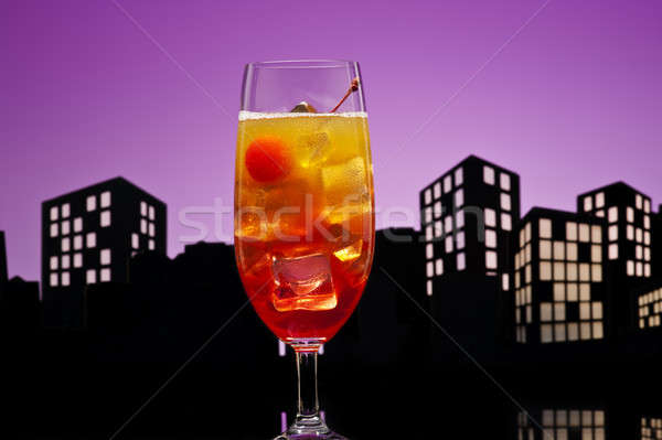 Metrópole tequila nascer do sol coquetel festa Foto stock © 3523studio