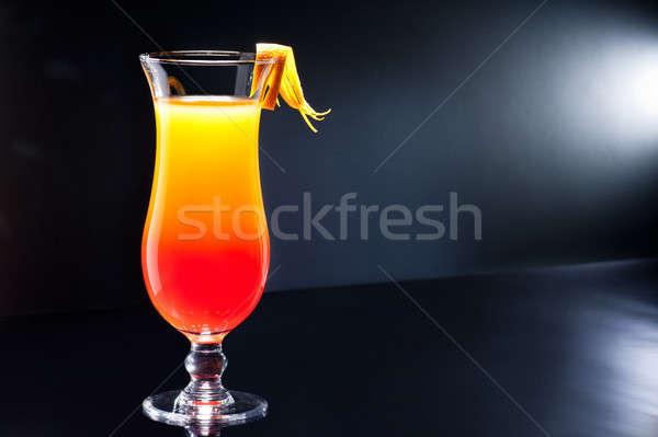 Tequila amanecer cóctel fiesta vidrio verano Foto stock © 3523studio