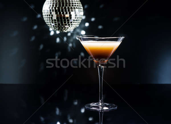 Koffie martini cocktail disco lichten bar Stockfoto © 3523studio