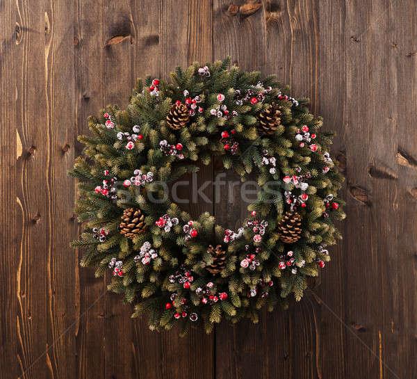 Advent Christmas wreath decoration Stock photo © 3523studio
