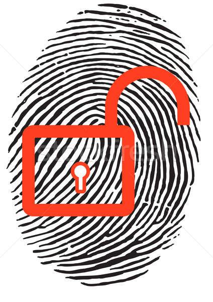 Finger Print with lock Stock photo © 3523studio