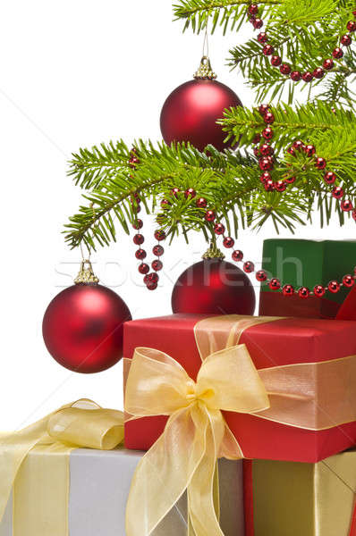 Presents under decorated Christmas tree Stock photo © 3523studio