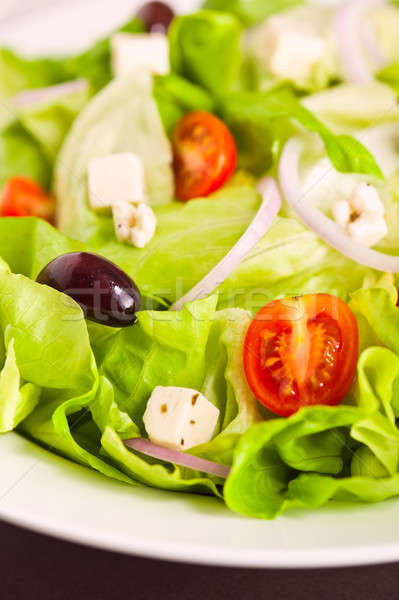 Foto stock: Frescos · griego · ensalada · orgánico · ingredientes · verde
