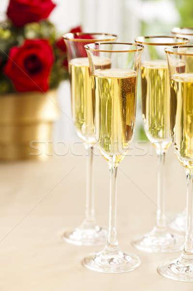 Recepção de casamento champanhe flores flor casamento amor Foto stock © 3523studio