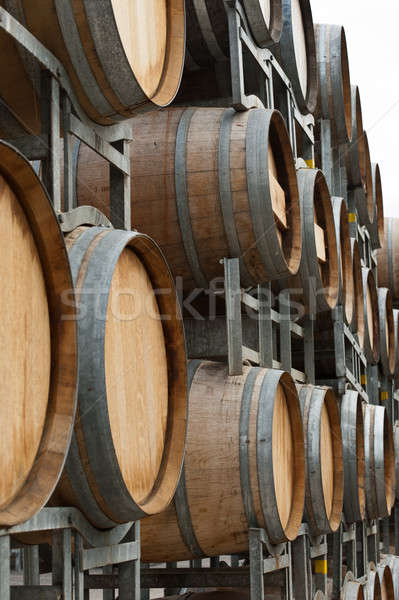 Wine barrel of a winery outside storage area Stock photo © 3523studio