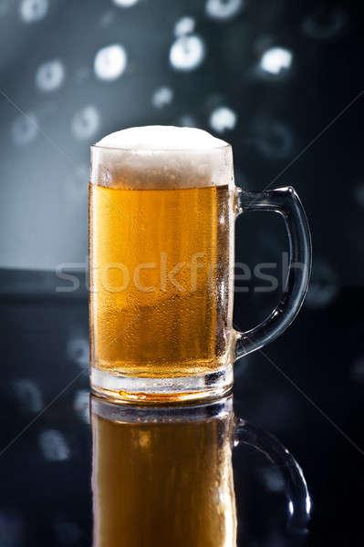 Bier disco bar naturelles couleurs bière Photo stock © 3523studio
