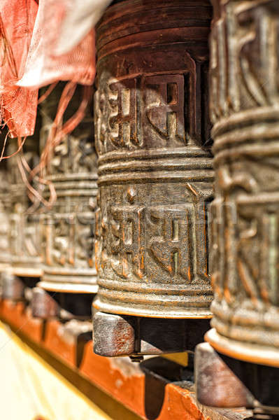 Boudhanath temple bells  in the Kathmandu valley Stock photo © 3523studio