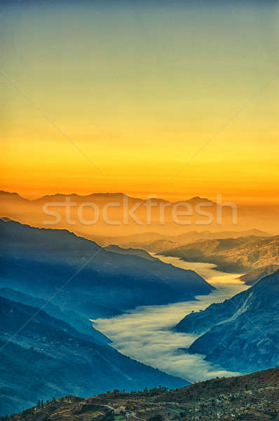View from kalinchok Photeng towards the Kathmandu valley Stock photo © 3523studio