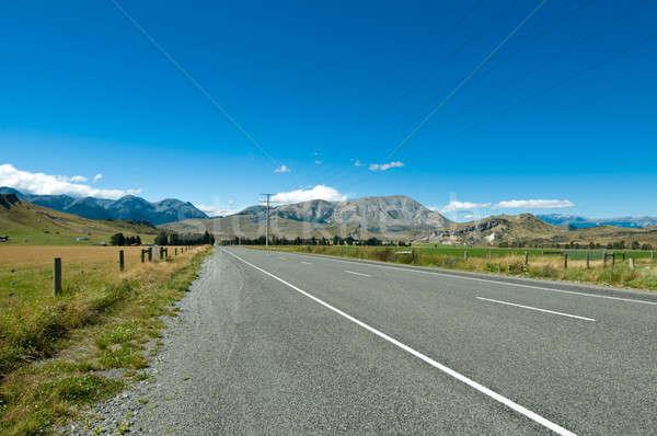 Highway towards panoramic mountain Stock photo © 3523studio