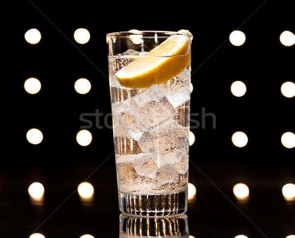 Gin tánctér fény üveg nyár diszkó Stock fotó © 3523studio