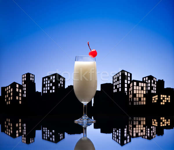 Metropolis pina colada cocktail drinken leuk Stockfoto © 3523studio