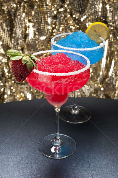 Strawberry and a Blue margarita Cocktail Stock photo © 3523studio
