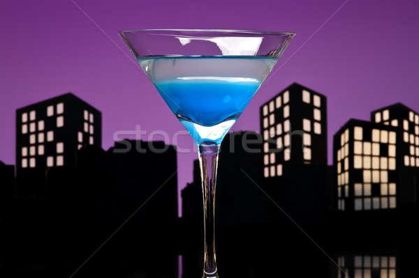 Metropolis Blue Martini cocktail  Stock photo © 3523studio