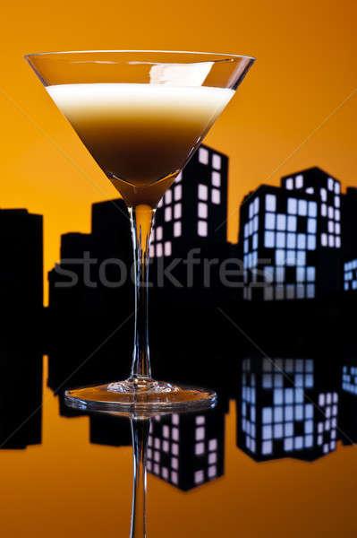 大都市 コーヒー マティーニ カクテル 光 ストックフォト © 3523studio