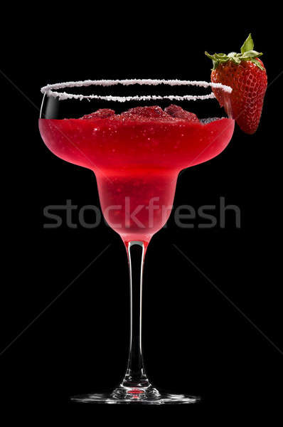 Strawberry Margarita in front of a black background Stock photo © 3523studio