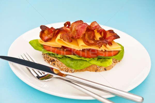 Open blt sandwich  Stock photo © 3523studio