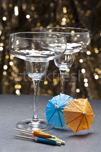 Margarita glass in front of glitter background Stock photo © 3523studio