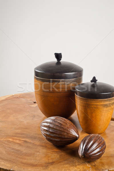 Wooden objects as interior decoration Stock photo © 3523studio