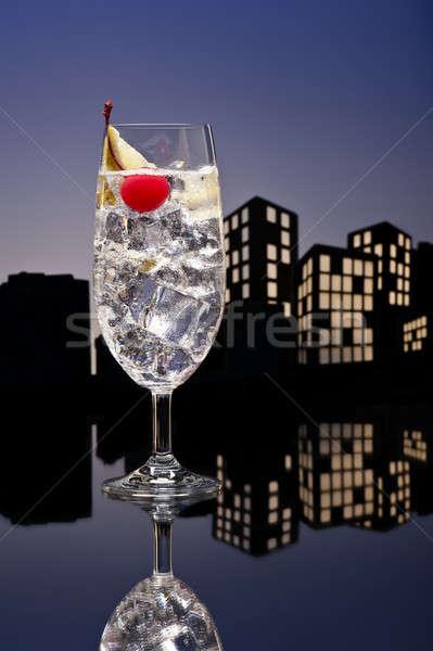 Metropolis Gin Tonic tom collins cocktail Stock photo © 3523studio