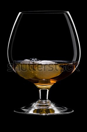 Whisky roches belle glace noir glaçon Photo stock © 3523studio