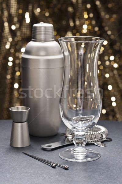Highball glass with bartender tools Stock photo © 3523studio