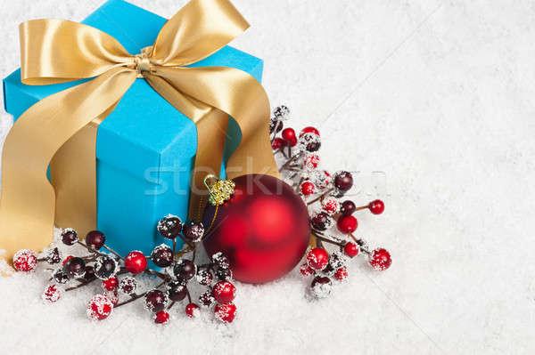 Present in festive decoration  Stock photo © 3523studio