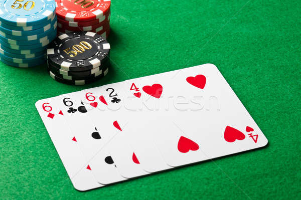 Three of a kind in poker Stock photo © 3523studio