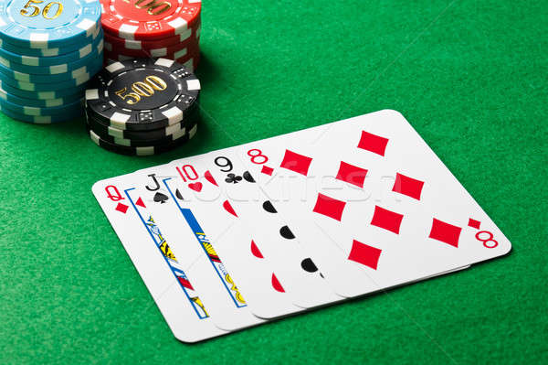 Straight in poker Stock photo © 3523studio