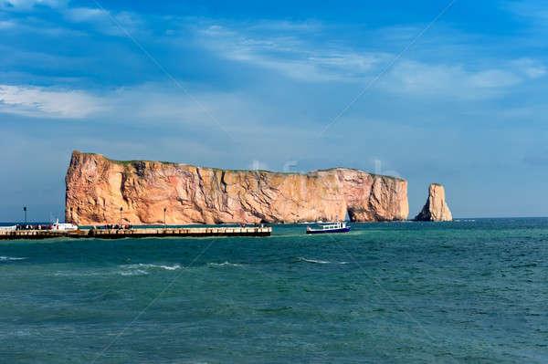 Perce Rock, famous place in Gaspe Stock photo © 3523studio