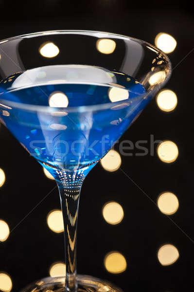 Azul martini cóctel disco feliz frutas Foto stock © 3523studio