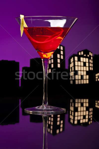 Metrópole cosmopolita coquetel curto vodka Foto stock © 3523studio