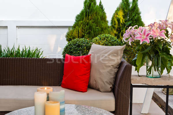 Outdoor patio seating area Stock photo © 3523studio