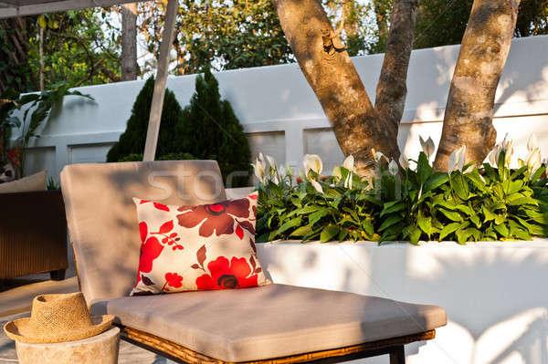 Villa саду красивой после полудня солнце дерево Сток-фото © 3523studio