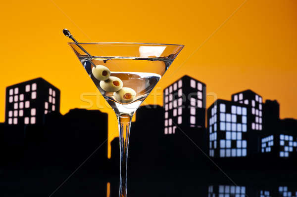 Métropole vodka martini kangourou cocktail vodka variation Photo stock © 3523studio
