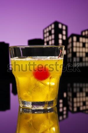 大都市 カクテル 幸せ フルーツ 氷 ストックフォト © 3523studio