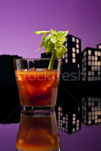 Metrópole sangrento coquetel restaurante verde Foto stock © 3523studio