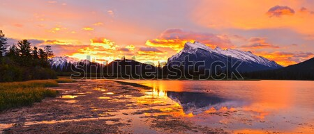 Sunset above Vermilion Lakes, Banff National Park Stock photo © 3523studio
